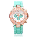 Silicone Crystal 3 Dial Number Jelly Women Wrist Watch Watch