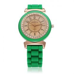 Silicone Jelly Crystal Women Children Wrist Quartz Watch