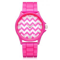 Silicone Jelly Wave Number Round Women Quartz Wrist Watch