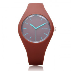 Silicone Sport Fashion Jelly Round Men Women Wrist Watch