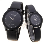 Simple Calibration Analog Round Couple Wrist Watch Watch