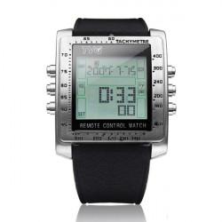 TVG Rectangle Remote Control Rubber Alarm TV DVD Men Wrist Watch