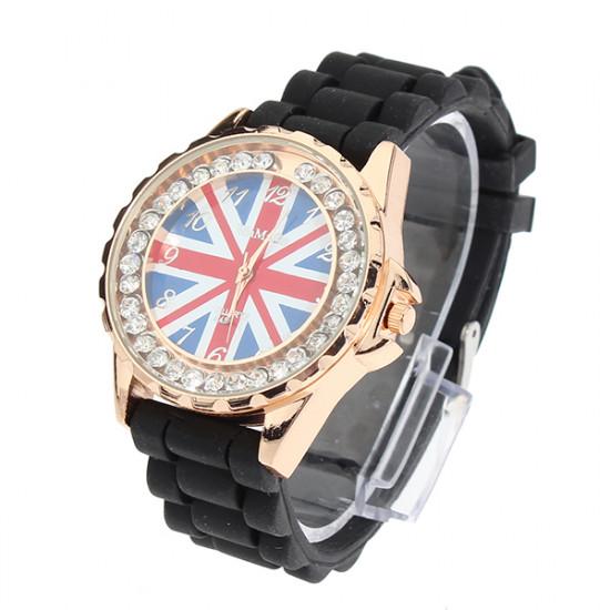 UK Flag Rhinestone Watch 2021