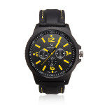 V6 Men Military Sports Round Big Dial Fashion Quartz Silicone Watch Watch