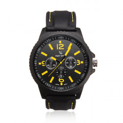 V6 Men Military Sports Round Big Dial Fashion Quartz Silicone Watch