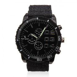 V6 Men Sports Round Big Dial Quartz Fashion Watch