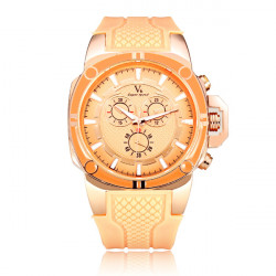 V6 Super Speed B0230 Big Dial Rose Gold Men Women Quartz Watch