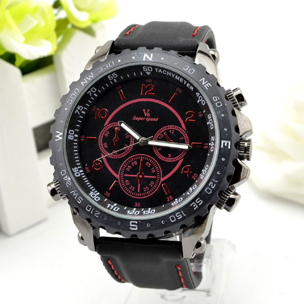 V6 Super Speed Silicone Band Sport Watch Watch