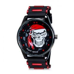 V6 Super Speed Skull Dial Silicone Band Quartz Sport Watch