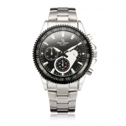 V6 Super Speed Stainless Steel Black Dial Military Men Wrist Watch