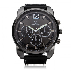 V6 V0183 Super Speed Big 3 Dial Silicone Number Sport Men Watch
