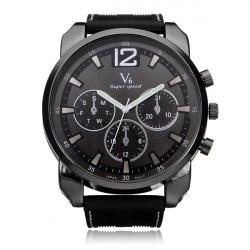 V6 V0183 Super Speed Big 3 Dial Silicone Number Sport Men Watch