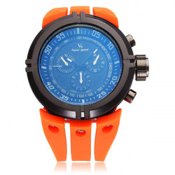 V6 V0202 Super Speed Sport Orange Big Dial Men Quartz Wrist Watch