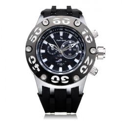 V6 V0203 Super Speed Big Dial Number Rubber Military Men Wrist Watch