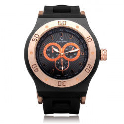 V6 V0212 Super Speed Big 3 Dial Silicone Round Sport Men Watch