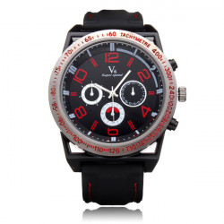 V6 V0213 Super Speed Big 3 Dial Silicone Number Sport Men Watch