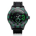 V6 V0222 Super Speed Big 3 Dial Number Black Men Wrist Watch Watch
