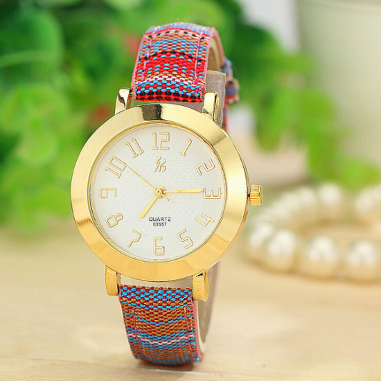 Vintage 4 Colors Knitted Band Analog Quartz Watch 2021