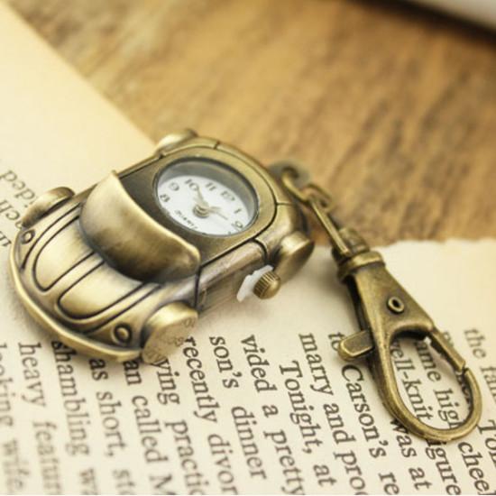 Vintage Car Shape Alloy Chain Pocket Watch 2021