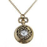 Vintage Fashion Carved Hollow Flower Pocket Watch Chain Watch