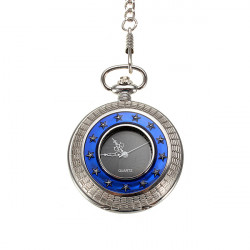 Vintage Retro Skeleton Quartz Roman Chain Men Women Pocket Watch