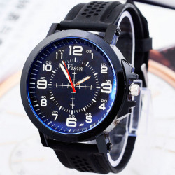 Visin Silicone Band Big Dial Sport Watch