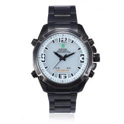 WEIDE WH 2306B Black Band LED Waterproof Sport Analog Men Wrist Watch