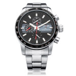 WEIDE WH3313 Silver Stainless Steel Military Calendar Men Wrist Watch Watch