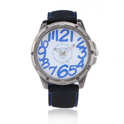 WEIJIEER Big Dial Numeral Rubber Quartz Sport Watch