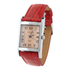 WOMAGE Fashion Square Leather Quartz Women Watch