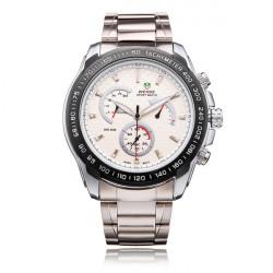 Weide WH1111 Silver Stainless Steel 3 Dial Men Quartz Wrist Watch