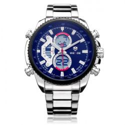 Weide WH3410 Multi Function Week 24h Date Men Stainless Steel Watch