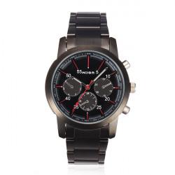 Wilon 1004k2 Black 3 Dial Fashion Stainless Steel Men Wrist Watch
