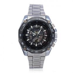 Winner Men Skeleton Stainless Steel Mechanical Watch