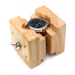 Wooden Watch Case Holder Movement Repair Tool Watchmaker