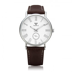 YAZOLE 297 Vintage Thin Dial Blue Glass Waterproof Quartz Watch