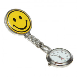 Yellow Smile Face Nurse Watch Pin Brooch Watch Fob Watch