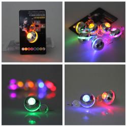 1Pc Light Up Blinking LED Round Dangle Earring Dance Party