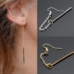 1pc Punk Charm Tassels Link Chain Alloy Bar Drop Earring For Women Women Jewelry