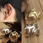 1pc Punk Gold Silver Tone Frog Cuff Ear Clip Wrap Earring Jewelry Women Jewelry