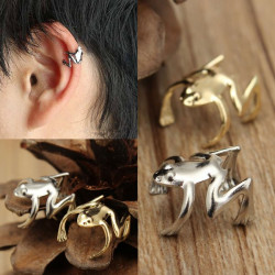 1pc Punk Gold Silver Tone Frog Cuff Ear Clip Wrap Earring Jewelry
