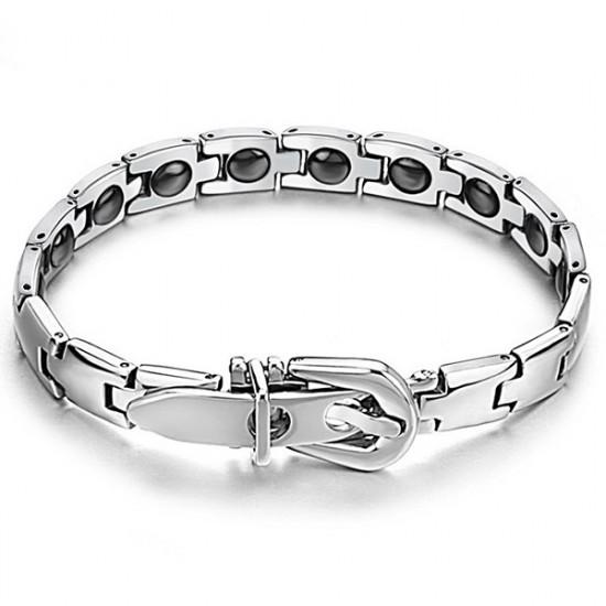 316L Stainless Steel Health Care Magnetic Stone Men Bracelet 2021
