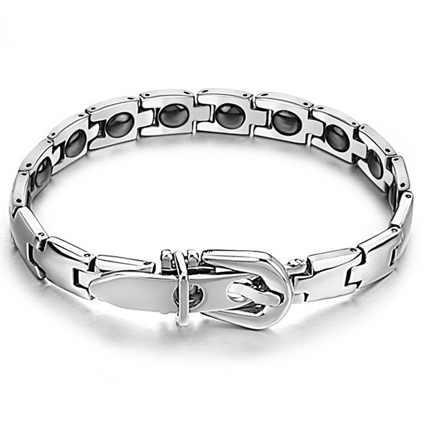 316L Stainless Steel Health Care Magnetic Stone Men Bracelet Fine Jewelry