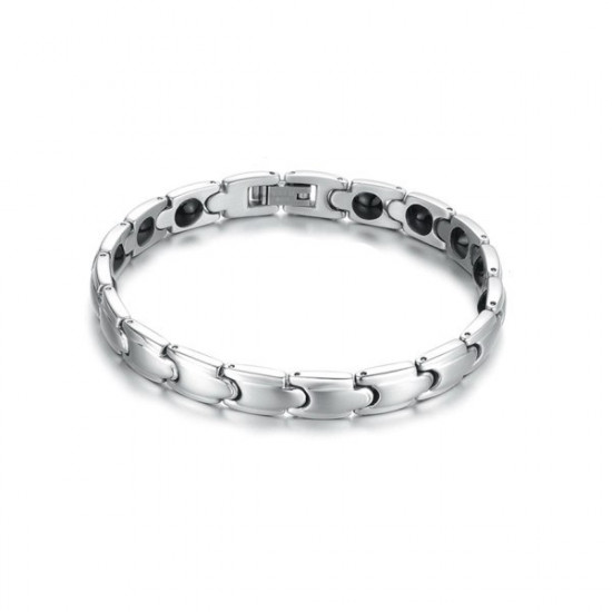 316L Stainless Steel Health Energy Magnetic Stone Couple Bracelet 2021