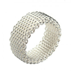 925 Silver Plated Web Ring Wedding Finger Ring Gift Jewelry