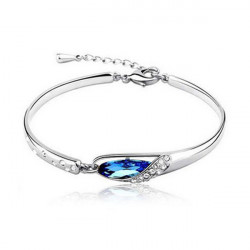 Austria Style Crystal Glass Shoes Bracelet Rhinestone Bangle