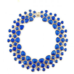 Bib Enamel Bubble Statement Collar Necklace For Women Gold Plated