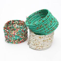 Bohemia Handmade Multilayer Circle Charm Beads Bracelet Bangle