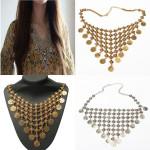 Bohemian Gypsy Antique Coin Tassel Statement Choker Necklace For Women Women Jewelry