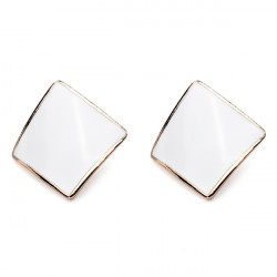 Candy Color Alloy Oil Rhombus Ear Stud Earrings Women Jewelry